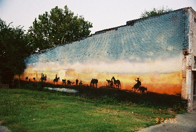 Bedias, Texas Mural Creation by Kathy Harris